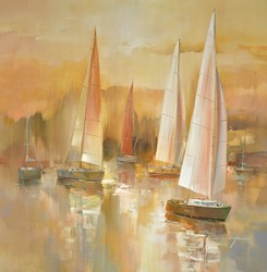 Sailing Away II by Wilfred -  sized 38x38 inches. Available from Whitewall Galleries